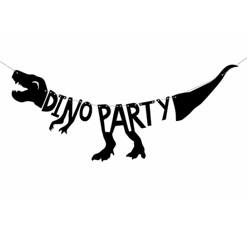 Girlanda urodzinowa baner z dinozaurem dino party