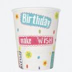 Kubeczki Papierowe Happy Birthday 250 ml 8 szt.