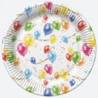 Talerzyki papierowe Baloniki 22,7cm 8szt.